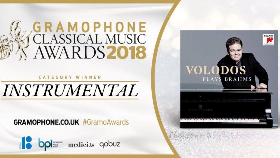 Arcadi Volodos wins the Gramaphone Award 2018 Instrumental performance